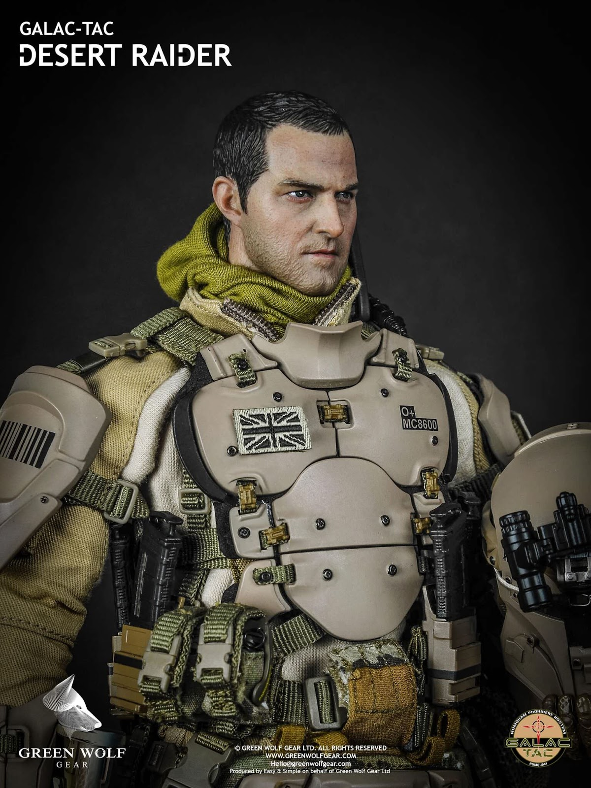 toyhaven new from green wolf gwg 004 1 6th scale galac tac desert raider 12 inch figure preview. Black Bedroom Furniture Sets. Home Design Ideas