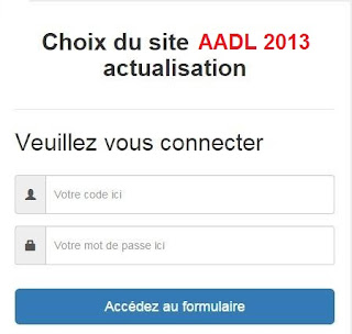 aadl.com.dz Choix sites