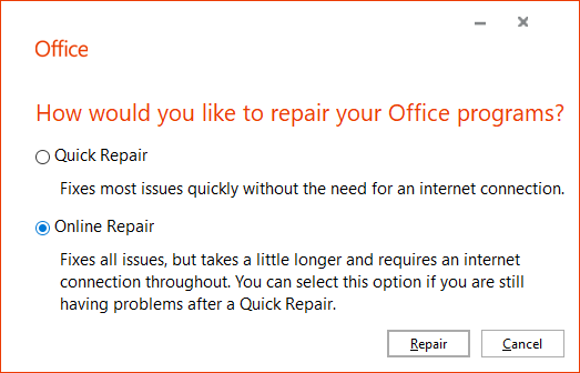 office online repair