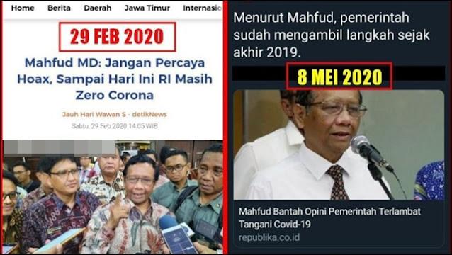 Mahfud Klaim Akhir 2019 Corona Telah Ditangani, Saut Situmorang: Benar-benar Tak Punya Integritas!