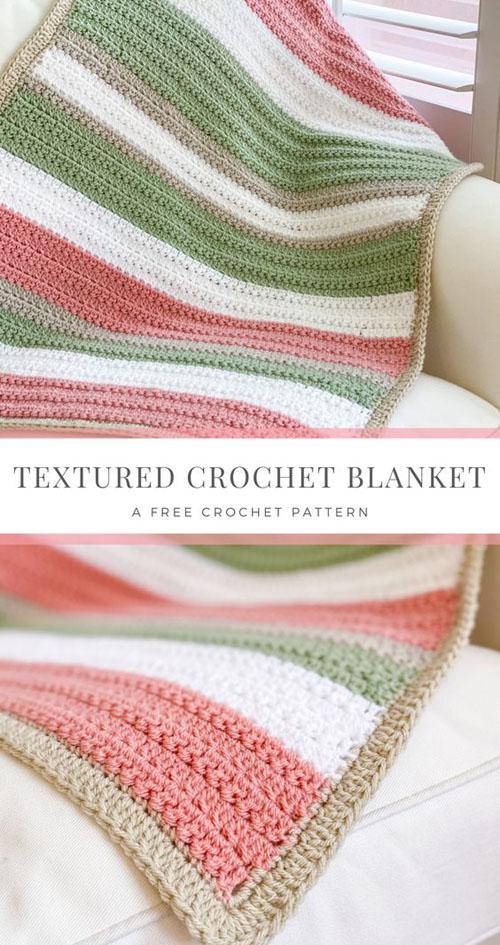 Textured Crochet Blanket - Free Pattern