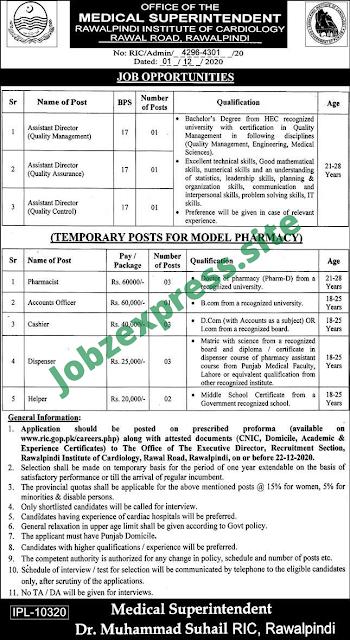 Rawalpindi Cardiology jobs 2020