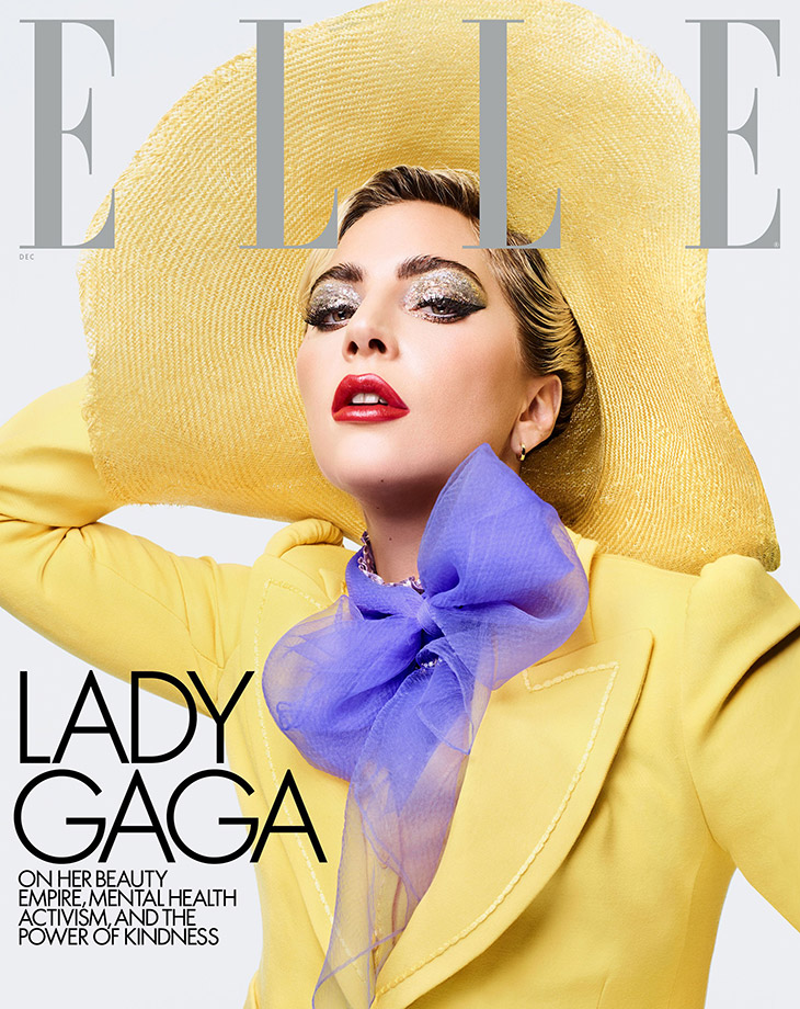 Lady Gaga is the Cover Star of Elle Magazine December 2019 Issue