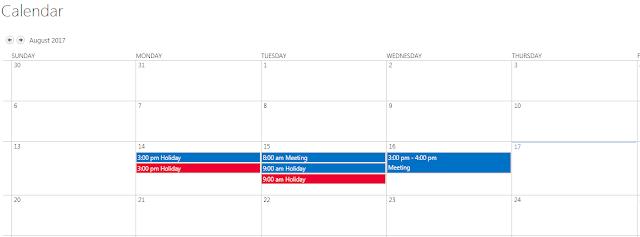 Calendar with overlay