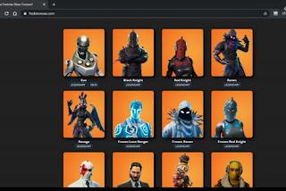 Fnskinsnow com Get Free skins fortnite unlimited
