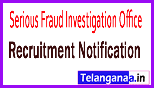 Serious Fraud Investigation Office SFIO Recruitment