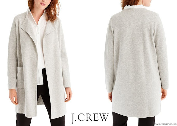 Meghan Markle wore J. Crew Juliette Collarless Sweater Blazer