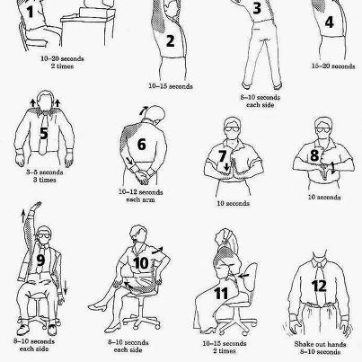 10 Ways To Exercise While Sitting At Your Desk