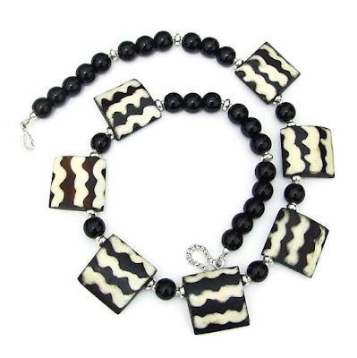 african batik flag bead tribal jewelry for women