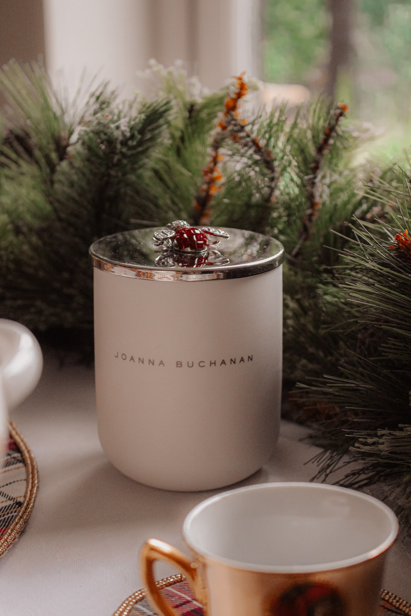 Joanna Buchanan Embellished Christmas Candle
