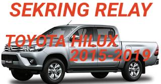 sekring dan relay TOYOTA HILUX 2015-2019