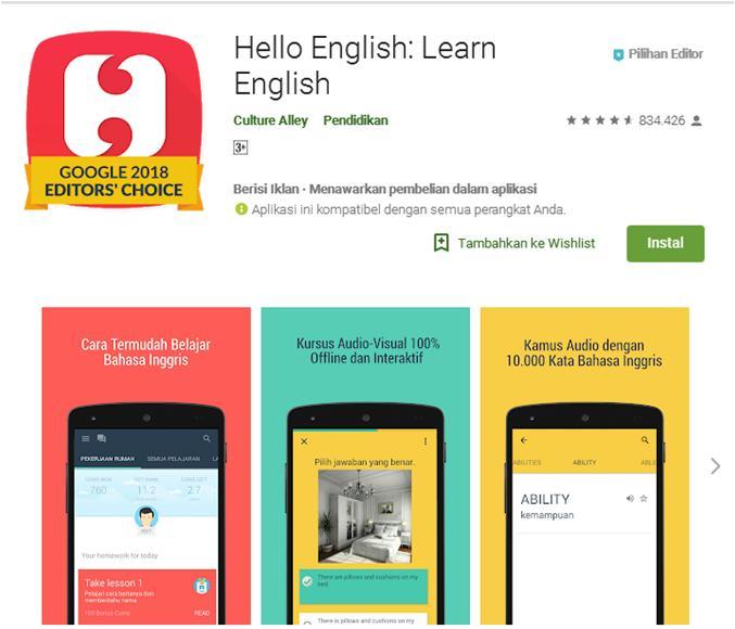 Aplikasi Belajar Bahasa Inggris Offline Gratis Terbaik Untuk Pemula - mingseli.id