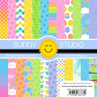 Sunny Studio Stamps: Spring Fling 6x6 Double Sided Patterned Paper 24-Sheet Pack