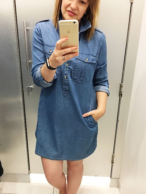 Warehouse four pocket denim dress