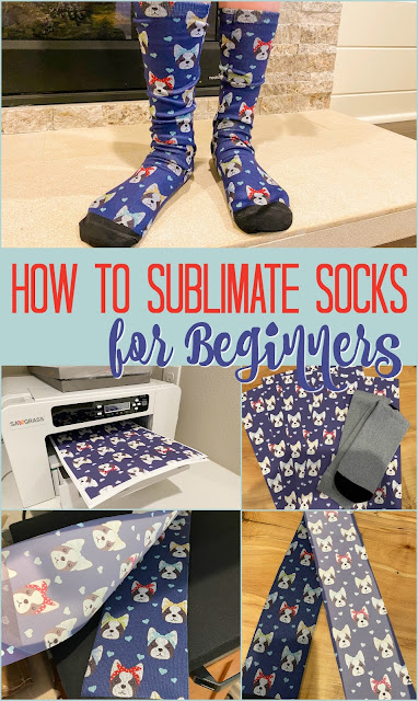 silhouette 101, silhouette america blog, sublimation, sublimation printing, sublimate socks