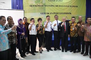 Peduli Lombok, Akhiri Rangkaian Harhubnas 2018 OP Tanjung Priok