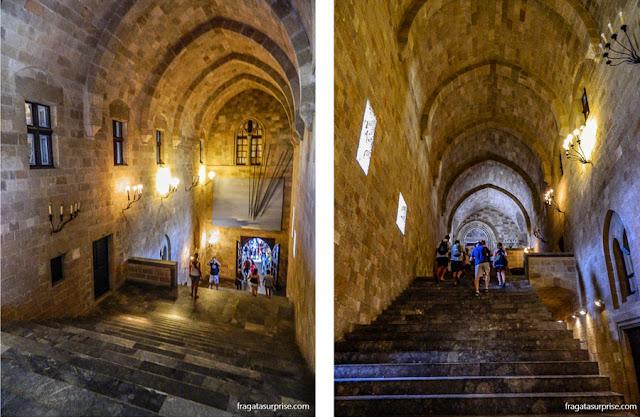 Escadaria do Palácio do Grão-Mestre da Ordem dos Cavaleiros de Rodes