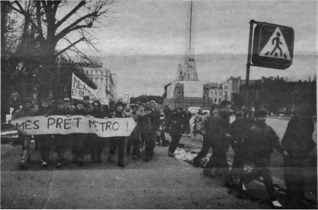 28 апреля 1988 года. Улица Ленина. Манифестация против строительства метро в Риге