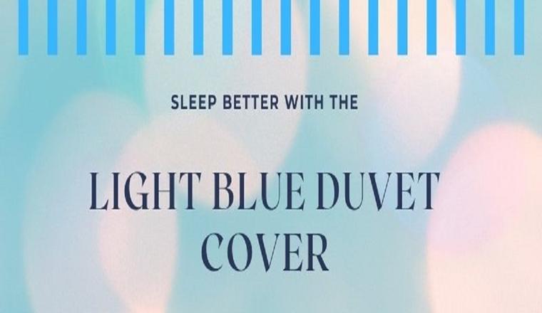 Beautiful light blue duvet cover #infographic