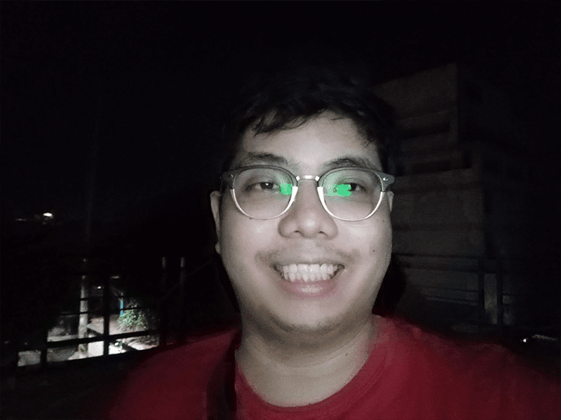 Huawei Y6p selfie low light with flash