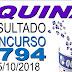 Resultado da Quina concurso 4794 (05/10/2018) ACUMULOU!!!