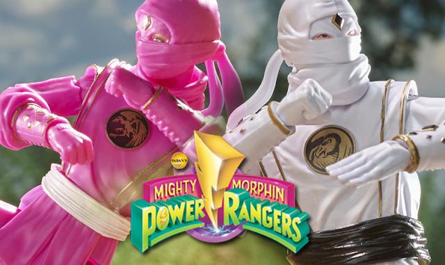 Kimberly e Tommy com uniforme Ninja ganham bonecos na linha Lightning Collection de Power Rangers