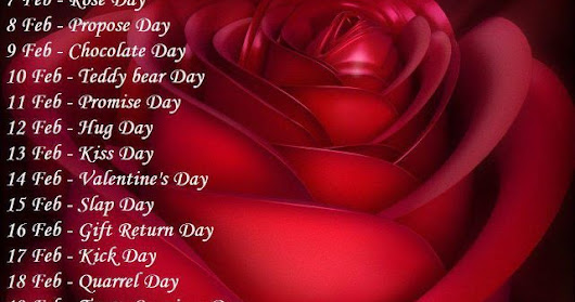 Valentine Week List 2019 Dates Schedule Rose Day Propose Day Hug Day Kiss Day Chocolate Day Full list
