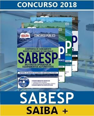 Apostila Concurso SABESP SP 2018