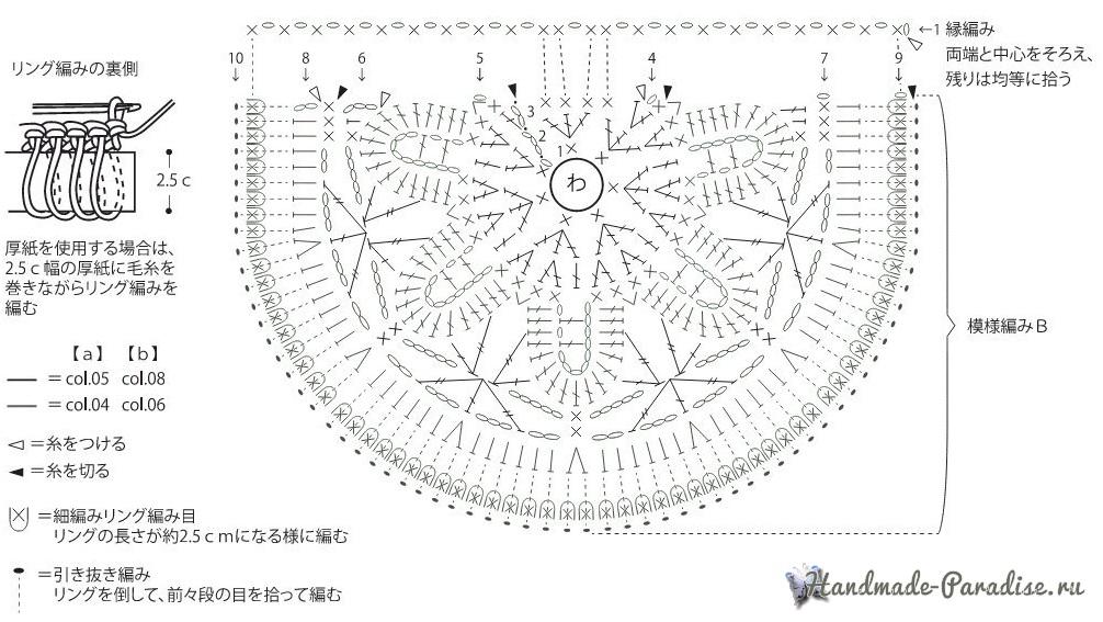 Схемы вязания крючком клатча (3)
