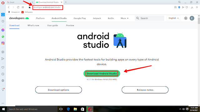 How to install and setup Android studio on Windows10