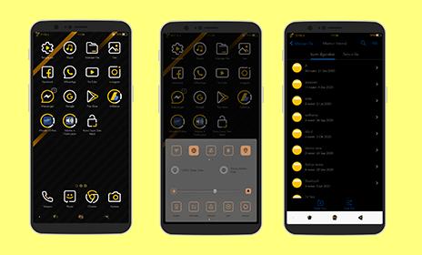 Gold Dark Tema Oppo Tembus Semua Aplikasi