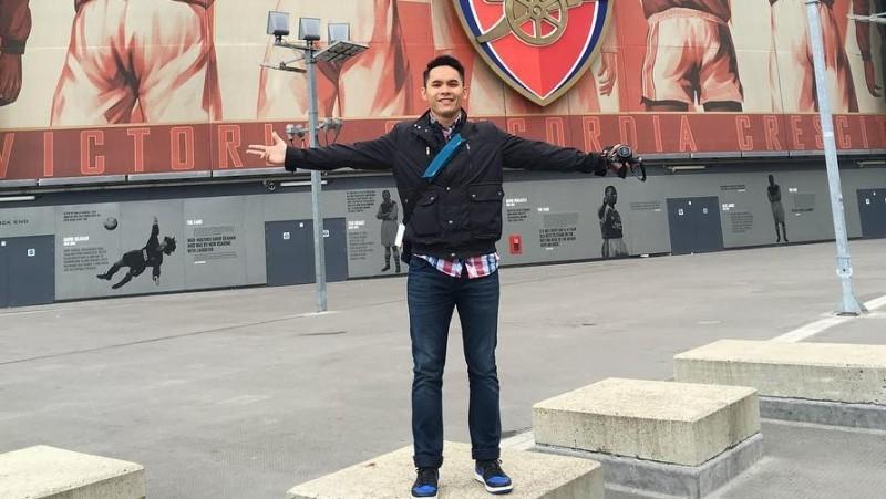 Ben Kasyafani saat berkunjung ke markas Arsenal