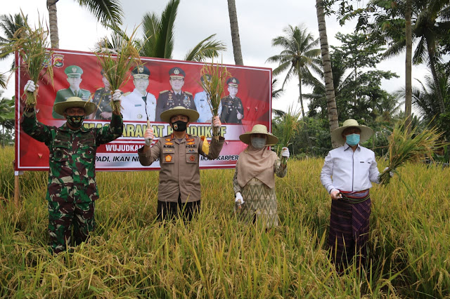 9/7 14.11] Hatta Polda NTB: *KEPOLISIAN NEGARA REPUBLIK INDONESIA*   *DAERAH NUSA TENGGARA BARAT*   *BIDANG HUBUNGAN MASYARAKAT*    *SIARAN PERS*   Alternatif Judul:  – Ikuti Acara Panen secara Virtual, Kapolda NTB Luncurkan Kampung Sehat NTB Kembang Kuning  – Kapolda NTB Resmikan Kampung Sehat NTB dalam Acara Interaktif Panen Virtual  – Kapolri Panen di KTN Tangerang, Kapolda NTB Resmikan Kampung Sehat Nunut Tatanan Baru  – Perkuat Ketahanan Pangan, Polda NTB Resmikan Kampung Sehat Nurut Tatanan Baru di Lombok Timur