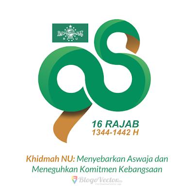 Logo Harlah Ke-98 NU Vector CDR, PNG, AI