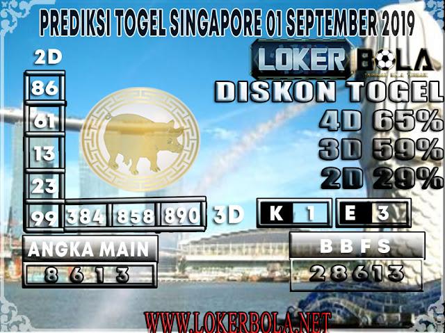 PREDIKSI TOGEL SINGAPORE POOLS LOKERBOLA 01 SEPTEMBER 2019