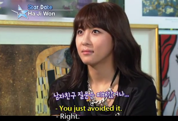 Ha Jiwon - you just avoided the question about boyfriend