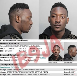 Dammy Krane arrested in US for theft