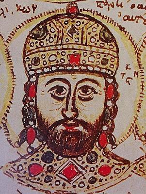 Απεικόνιση του Κωνσταντίνου Παλαιολόγου σε ένα χειρόγραφο του 15ου αι.