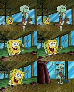 meme spongebob mengatakan sesuatu yang kekanak kanakan