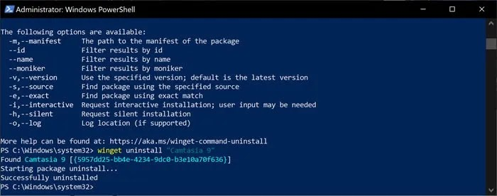 إلغاء تثبيت البرامج في نظام التشغيل Windows 10