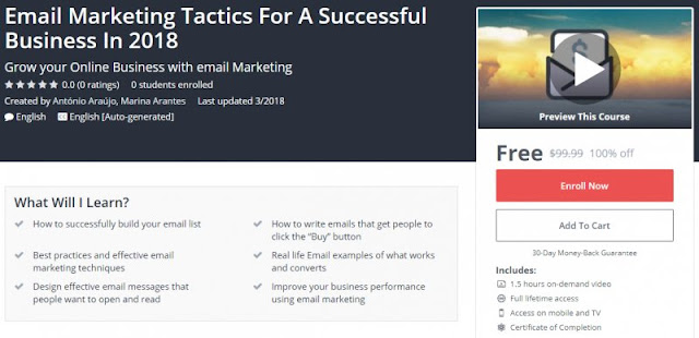 [100% Off] Email Marketing Tactics For A Successful Business In 2018| Worth 99,99$
