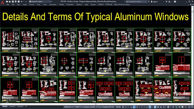 Details Of Typical Aluminum Windows [DWG, PDF]