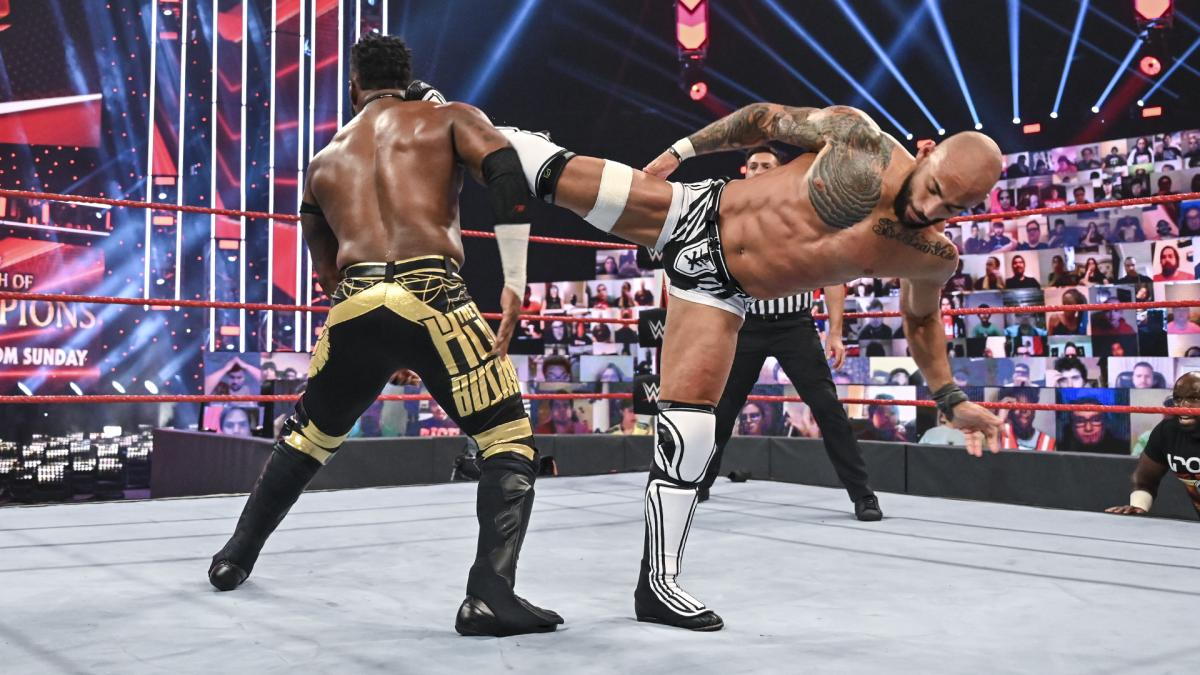 Ricochet and Cedric Alexander on WWE RAW