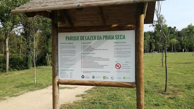 painel Informativo do parque de Kazer da Praia Seca