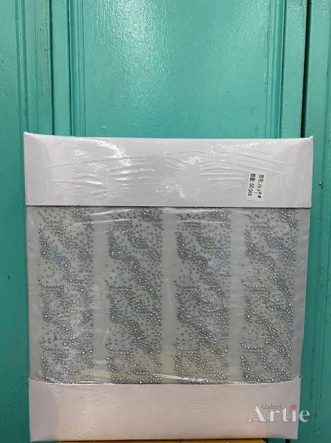 Pelekat hotfix sticker rhinestone DMC aplikasi tudung, bawal fabrik pakaian corak lilitan dengan fade