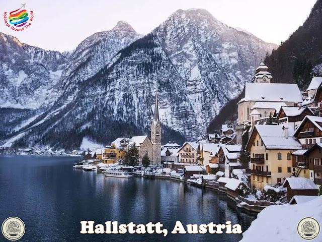 Hallstatt, Austria in winter