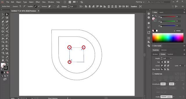 5G Logo in Adobe Illustrator