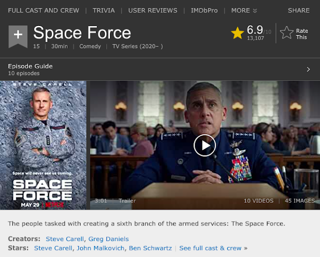 Space Force Season 1 (2020) Hindi Dual Audio Netflix Web Series 720p Download