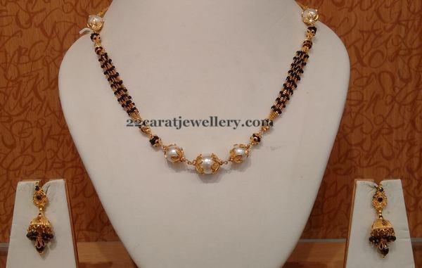 South Sea Pearls Black Beads Set Jewellery Designs