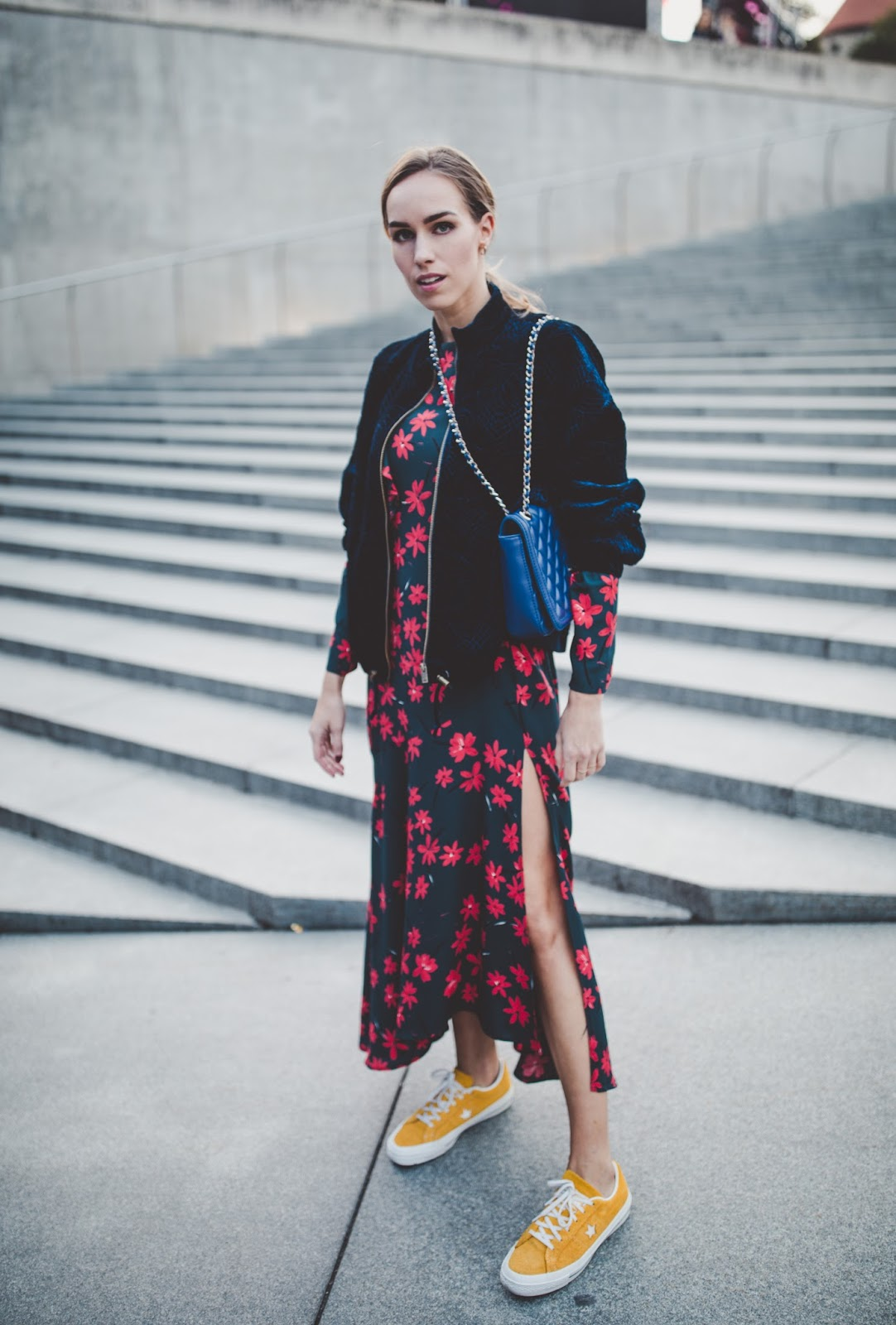 fall florals outfit